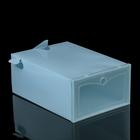 Короб для хранения выдвижной 22х31х13 см, цвет голубой
