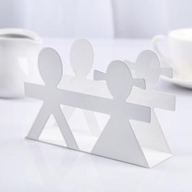 Napkin holder 13.5x4x4 cm, color white