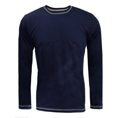 Лонгслив мужской, цвет тёмно-синий, размер 52