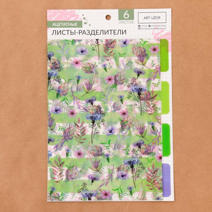 Набор ацетатных разделителей для планера «Акварель», 16 × 25 см, 6 листов