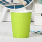 Стакан бумажный однотонный, 230 мл, набор 6 шт., цвет зелёный