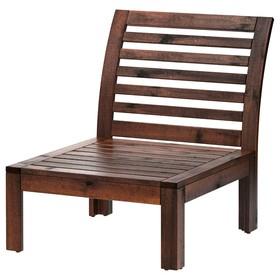 Кресло секция ЭПЛАРО, коричневая морилка