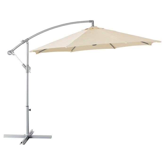Зонт от солнца КАРЛСЭ, подвесной, бежевый