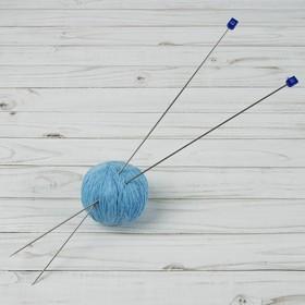 Спицы для вязания прямые, d = 2,0 мм, 40 см, 2 шт