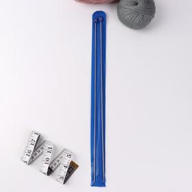 Спицы для вязания прямые, d = 2,5 мм, 40 см, 2 шт