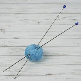 Спицы для вязания прямые, d = 3,0 мм, 40 см, 2 шт