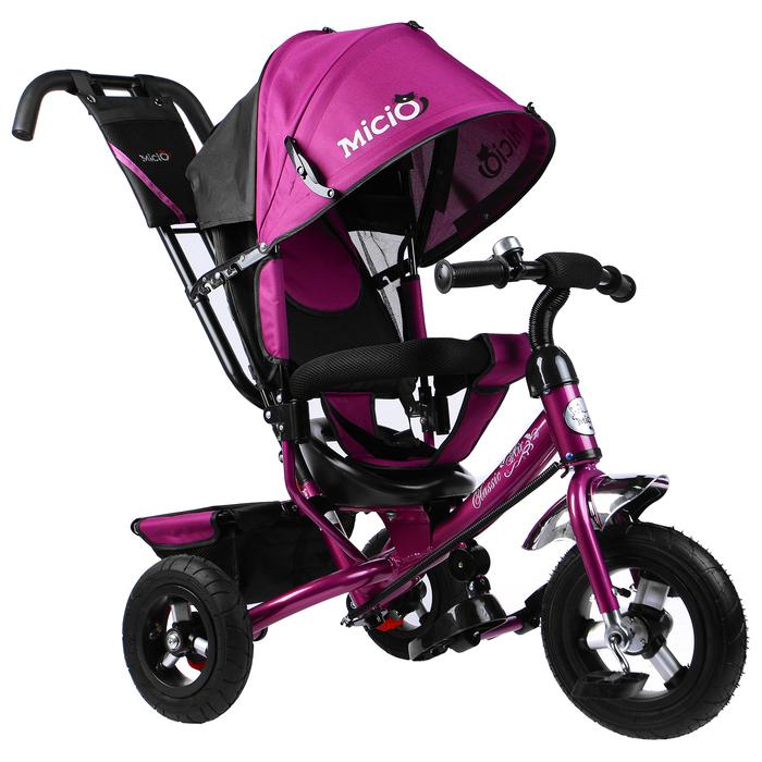 """Велосипед трёхколёсный Micio Classic Air 2019, надувные колёса 10""""/8, цвет сливовый"""