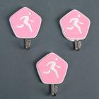 Набор крючков на липучке «Спорт», 3 шт, цвет МИКС - фото 308330741