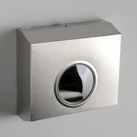 Dispenser for paper towels, stainless steel, mirror finish