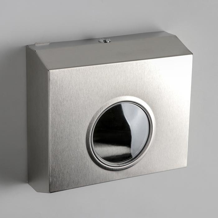 Диспенсер для бумажных полотенец, нержавеющая сталь, цвет хром