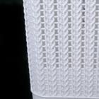 Корзина для белья с крышкой «Вязаное плетение», 25 л, 37×27,5×46,5 см, цвет белый - фото 4637219