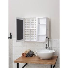 Набор для ванной комнаты Hilton Premium Right, цвет белый - фото 4651391