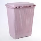 """Корзина для белья 25 л """"Вязаное плетение"""", цвет розовый"""