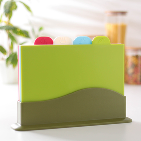 A set of cutting boards stand 32x23x7 cm Rectangle, 4 piece, MIX color