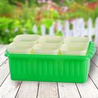 """Ящик для рассады """"Дом и Дача"""" на 6 стаканчиков, цвет зеленый"""