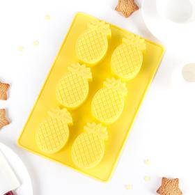 Baking dish, 6 cells Pineapple 26x18x3 cm, MIX color