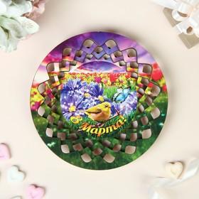 """Тарелка конфетница """"8 Марта"""", 19,5х19,5 см"""