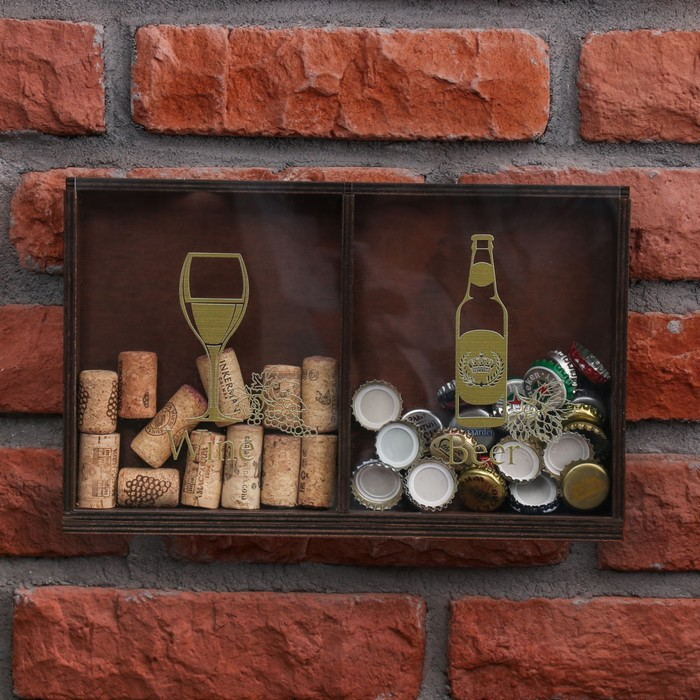"Копилка для пробок и крышек ""Wine, Beer"""