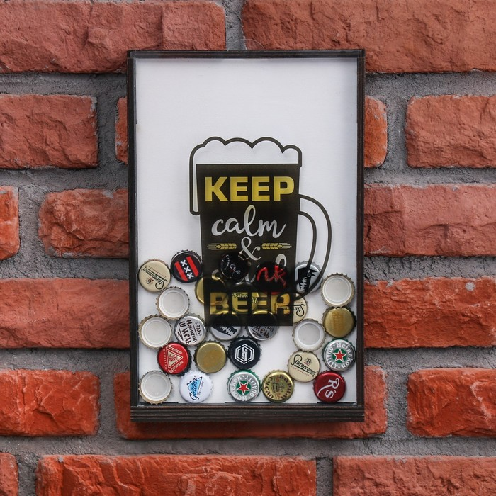 "Копилка для пивных крышек ""Drink beer"""