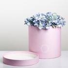Подарочная коробка круглая «Фламинго», 20 × 20 х 20 см