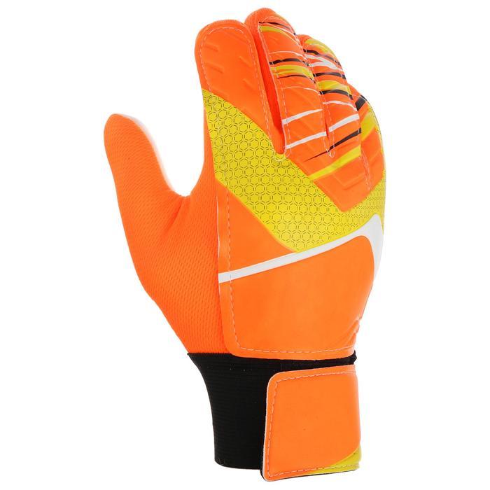 Перчатки вратарские, размер 5, цвет оранжевый