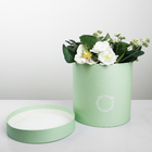 Подарочная коробка круглая «Зелёная патина», 18 × 18 х 18 см