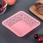 Bowl for bread or fruit, square 15,5x4 cm Azhur, MIX color