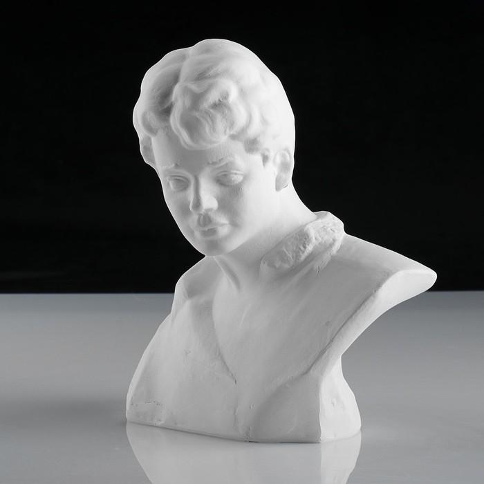 Гипсовая фигура. Известные люди: бюст Есенина, «Мастерская Экорше», 20 х 12.5 х 21.5 см