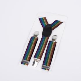 Подтяжки детские, ширина - 2,5 см, цвет разноцветный
