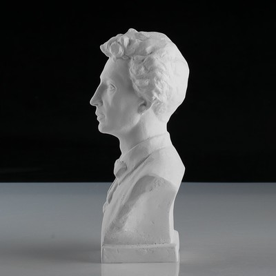 Гипсовая фигура. Известные люди: Бюст Блока, «Мастерская Экорше», 12.5х7.5х19 см