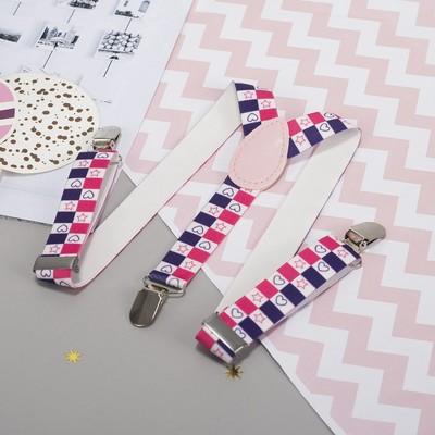 """Braces kids """"Hearts"""", length 60 cm, color pink/purple"""