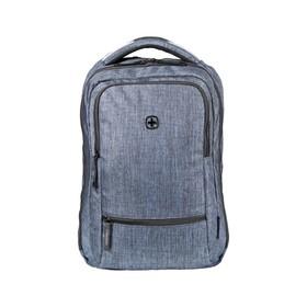 Рюкзак молодёжный, эргономичная спинка, Wenger 14, 41 х 26 х 19, 14 л, синий