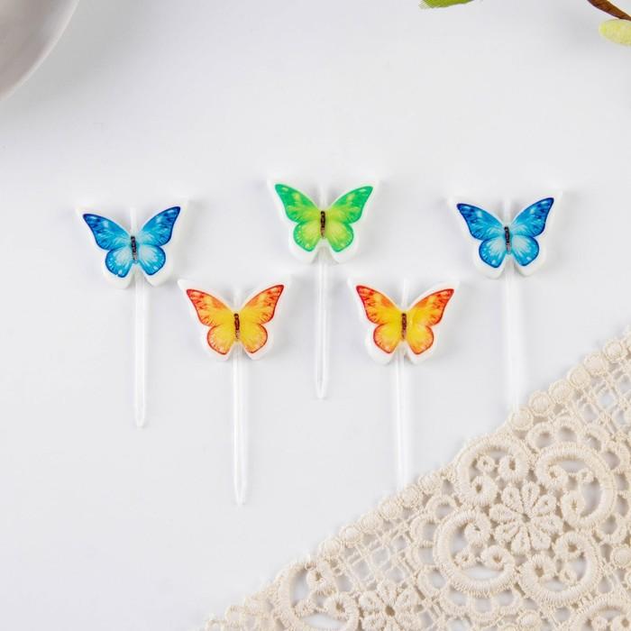 Набор свечей для кулича «Бабочки»