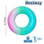 Круг для плавания, «Радуга», d=91 см, от 10 лет, цвета МИКС, 36126 Bestway