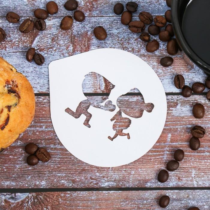 Трафарет для кофе Love 9.5 × 8.5 см