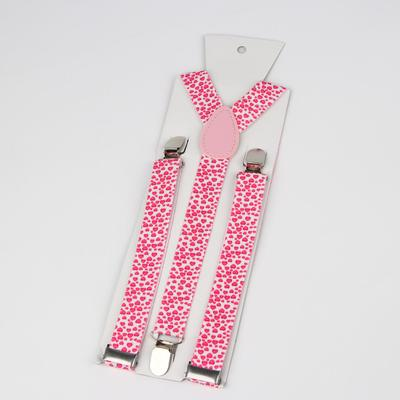 "Braces adult ""Hearts"", length 96 cm, color white/pink"