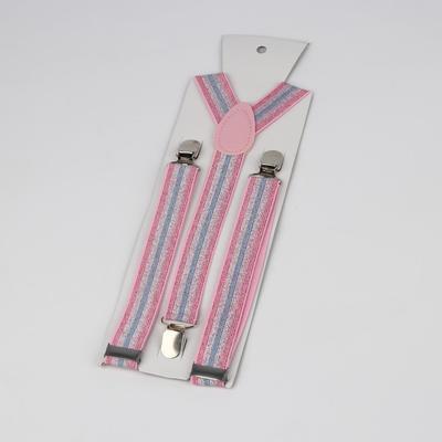 """Braces adult """"Glitter"""", length 96 cm, colour pink"""