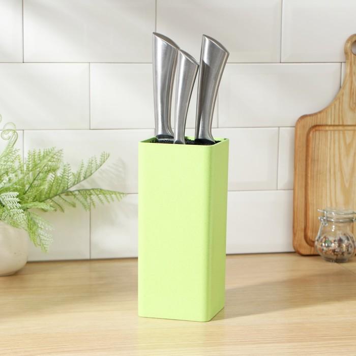 """Подставка для ножей 22х9 см """"Нежность"""", цвет зелёный"""