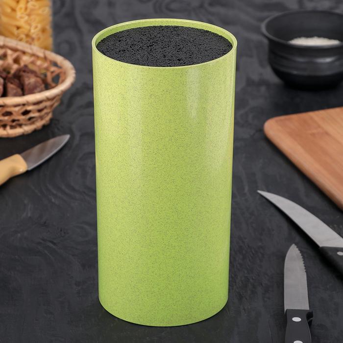 """Подставка для ножей 22х11 см """"Нежность"""", цвет зелёный"""