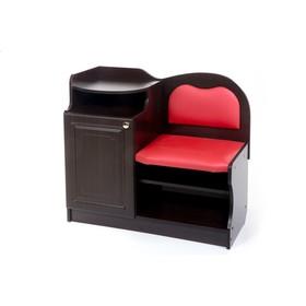 Банкетка №1, 850х430х920, Венге/Красный(112)