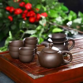 Набор для чайной церемонии «Красная глина», 11 предметов: чайник 220 мл, 8 пиал 50 мл, чахай