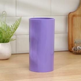 Подставка для ножей «Нео», 22×11 см, с наполнителем, покрытие Soft-touch, цвет фиолетовый