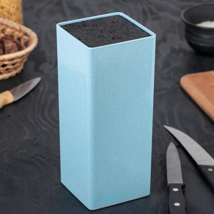"""Подставка для ножей 22х9 см """"Нежность"""", цвет голубой"""