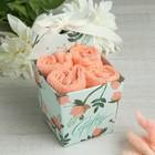 Набор махр. полотенец Gift 30х30 см-4шт, цв. молочный хлопок, 340 г/м2