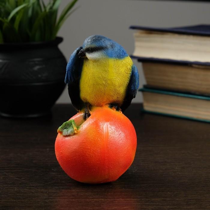 """Фигура """"Птица на яблоке"""" цветная, 12х8,5см"""