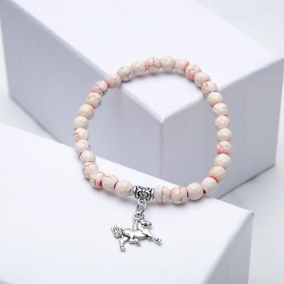 Bracelet ball No. 6 faceted coral matte pendant