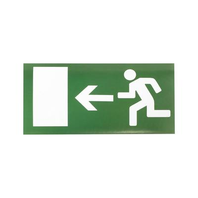 Decal Exit sign, left, 20x10 cm