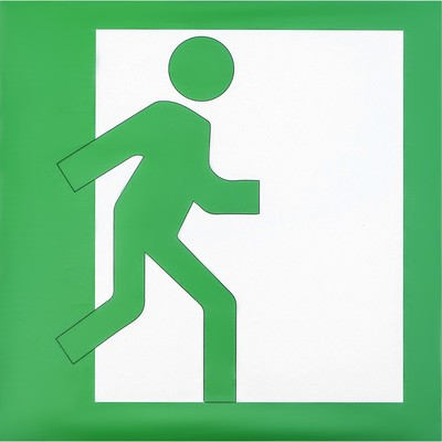 Decal Exit sign, right, 20x20 cm