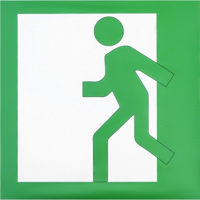 Decal Exit sign, left, 20x20 cm