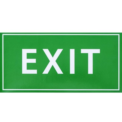 "Decal sign ""EXIT"", 20x10 cm"
